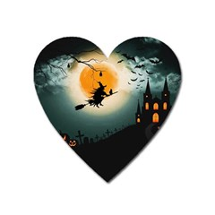 Halloween Landscape Heart Magnet by ValentinaDesign