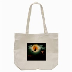Halloween Landscape Tote Bag (cream) by ValentinaDesign