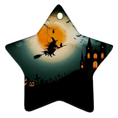 Halloween Landscape Star Ornament (two Sides) by ValentinaDesign