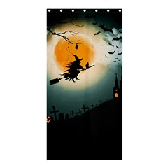 Halloween Landscape Shower Curtain 36  X 72  (stall)  by ValentinaDesign