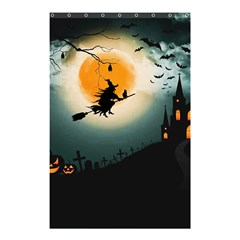 Halloween Landscape Shower Curtain 48  X 72  (small)  by ValentinaDesign