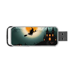 Halloween Landscape Portable Usb Flash (two Sides) by ValentinaDesign