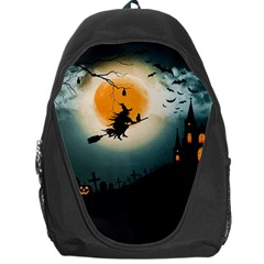 Halloween Landscape Backpack Bag by ValentinaDesign