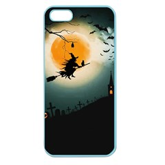 Halloween Landscape Apple Seamless Iphone 5 Case (color) by ValentinaDesign