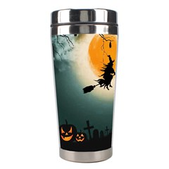 Halloween Landscape Stainless Steel Travel Tumblers by ValentinaDesign