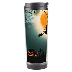 Halloween Landscape Travel Tumbler by ValentinaDesign