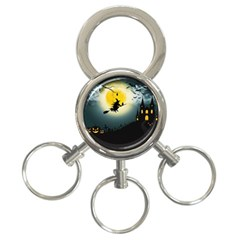 Halloween Landscape 3 Ring Key Chains by ValentinaDesign