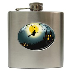 Halloween Landscape Hip Flask (6 Oz) by ValentinaDesign