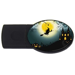 Halloween Landscape Usb Flash Drive Oval (2 Gb) by ValentinaDesign