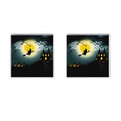 Halloween Landscape Cufflinks (square) by ValentinaDesign