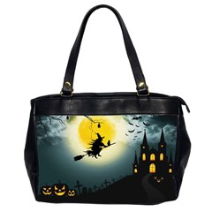 Halloween Landscape Office Handbags (2 Sides)  by ValentinaDesign
