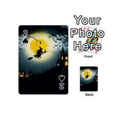 Halloween Landscape Playing Cards 54 (mini)  by ValentinaDesign