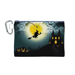Halloween Landscape Canvas Cosmetic Bag (m) by ValentinaDesign