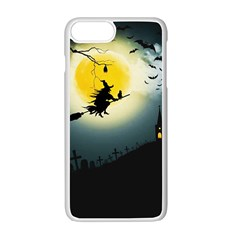 Halloween Landscape Apple Iphone 7 Plus White Seamless Case by ValentinaDesign