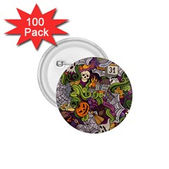 Halloween Pattern 1 75  Buttons (100 Pack)  by ValentinaDesign