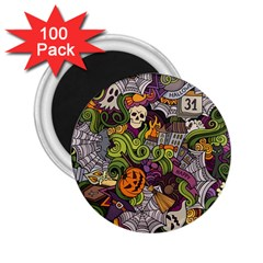 Halloween Pattern 2 25  Magnets (100 Pack)  by ValentinaDesign
