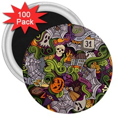 Halloween Pattern 3  Magnets (100 Pack) by ValentinaDesign