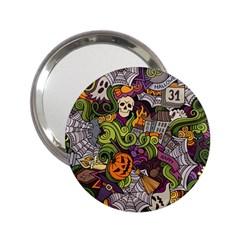 Halloween Pattern 2 25  Handbag Mirrors by ValentinaDesign