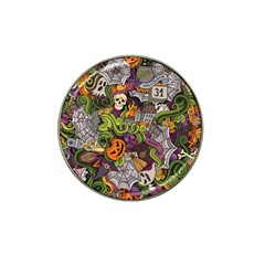 Halloween Pattern Hat Clip Ball Marker by ValentinaDesign