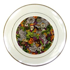 Halloween Pattern Porcelain Plates by ValentinaDesign