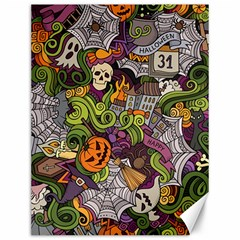 Halloween Pattern Canvas 12  X 16   by ValentinaDesign
