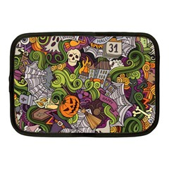 Halloween Pattern Netbook Case (medium)  by ValentinaDesign