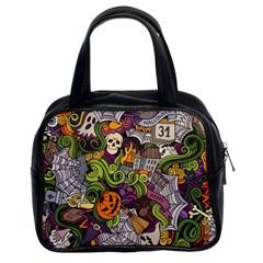 Halloween Pattern Classic Handbags (2 Sides) by ValentinaDesign