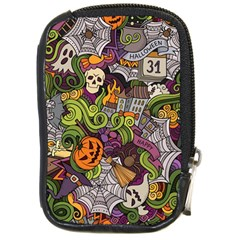 Halloween Pattern Compact Camera Cases by ValentinaDesign