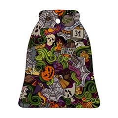 Halloween Pattern Ornament (bell) by ValentinaDesign