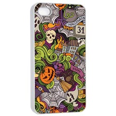 Halloween Pattern Apple Iphone 4/4s Seamless Case (white) by ValentinaDesign