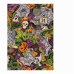 Halloween Pattern Small Garden Flag (two Sides) by ValentinaDesign