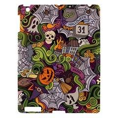 Halloween Pattern Apple Ipad 3/4 Hardshell Case by ValentinaDesign