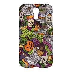 Halloween Pattern Samsung Galaxy S4 I9500/i9505 Hardshell Case by ValentinaDesign