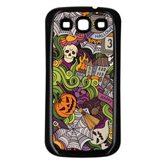 Halloween Pattern Samsung Galaxy S3 Back Case (black) by ValentinaDesign