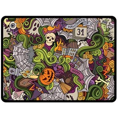 Halloween Pattern Double Sided Fleece Blanket (large)  by ValentinaDesign