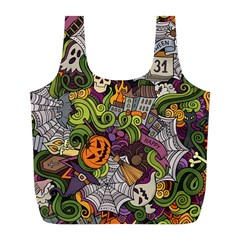 Halloween Pattern Full Print Recycle Bags (l)  by ValentinaDesign