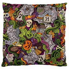 Halloween Pattern Large Flano Cushion Case (two Sides) by ValentinaDesign