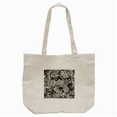 Halloween Pattern Tote Bag (cream) by ValentinaDesign