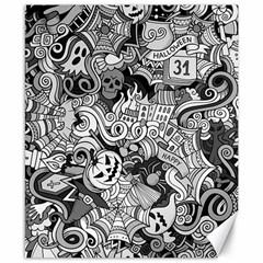 Halloween Pattern Canvas 8  X 10  by ValentinaDesign