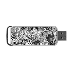 Halloween Pattern Portable Usb Flash (two Sides) by ValentinaDesign