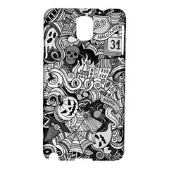 Halloween Pattern Samsung Galaxy Note 3 N9005 Hardshell Case by ValentinaDesign