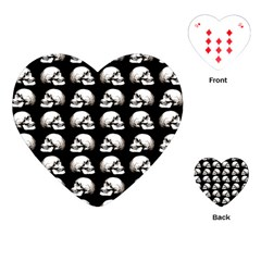 Halloween Skull Pattern Playing Cards (heart)  by ValentinaDesign
