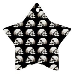Halloween Skull Pattern Star Ornament (two Sides) by ValentinaDesign