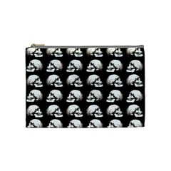 Halloween Skull Pattern Cosmetic Bag (medium)  by ValentinaDesign