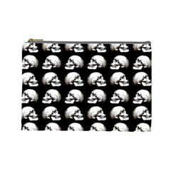 Halloween Skull Pattern Cosmetic Bag (large)  by ValentinaDesign