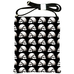 Halloween Skull Pattern Shoulder Sling Bags by ValentinaDesign