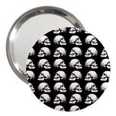 Halloween Skull Pattern 3  Handbag Mirrors by ValentinaDesign