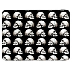 Halloween Skull Pattern Samsung Galaxy Tab 7  P1000 Flip Case by ValentinaDesign