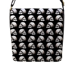 Halloween Skull Pattern Flap Messenger Bag (l)  by ValentinaDesign
