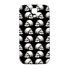 Halloween Skull Pattern Samsung Galaxy S4 I9500/i9505  Hardshell Back Case by ValentinaDesign